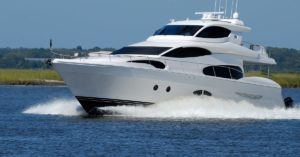 Yacht-in-the-ocean.-CAT-engine-repair-maintenance-and-OEM-Parts